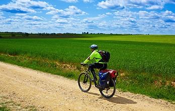 Chemin de St-Jacques à vélo