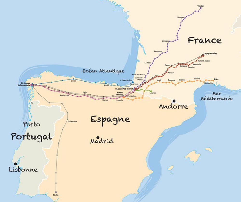 Vezelay France Map.Map Chemins De France Chemins De France